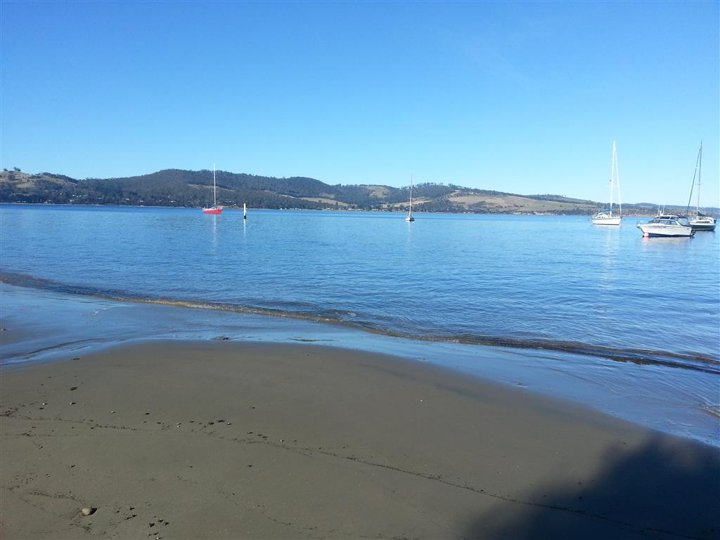 Tinderbox Beach. Across the D'Entrecasteaux Channel